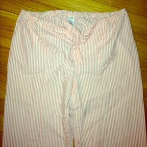 Gap pink and white striped lounge PJ pants XS
